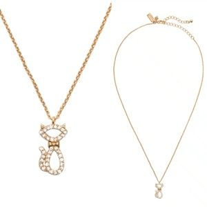 Kate Spade Jazz Things Up Pave Mini Cat Necklace